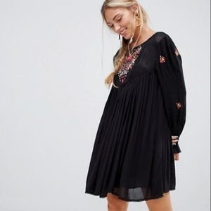 Free People NWT Mohave Embroidered Mini Dress SML